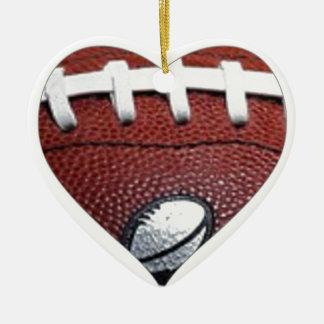 愛フットボール セラミックオーナメント