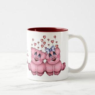 愛ブタのマグ ツートーンマグカップ
