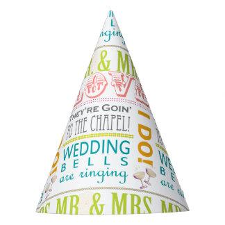 愛ブライダルシャワーのパーティの帽子、私は! 氏及び夫人 パーティーハット