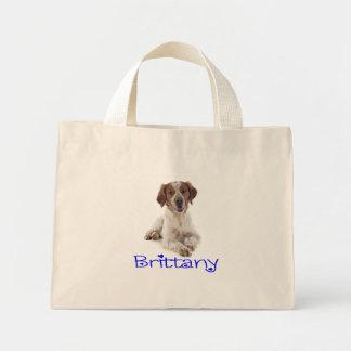愛ブリッタニースパニエル犬の小犬のキャンバスのトートバック ミニトートバッグ