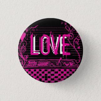 愛ボタン 3.2CM 丸型バッジ