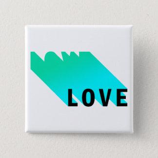 愛ボタン 5.1CM 正方形バッジ
