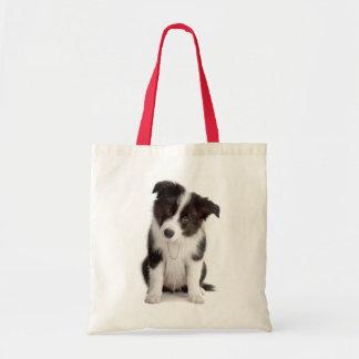 愛ボーダーコリーの小犬のトートバック トートバッグ