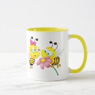 愛マグの蜂のカップル マグカップ