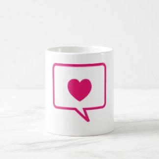 愛メッセージ ベーシックホワイトマグカップ
