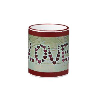 愛メッセージ リンガーマグカップ