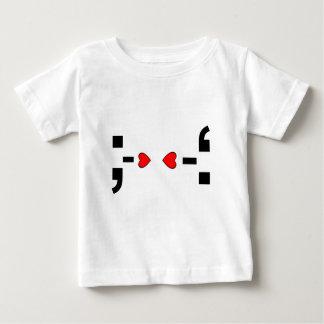 愛メールや文字を打つの句読点スマイリーマーク ベビーTシャツ