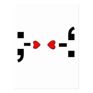 愛メールや文字を打つの句読点スマイリーマーク ポストカード