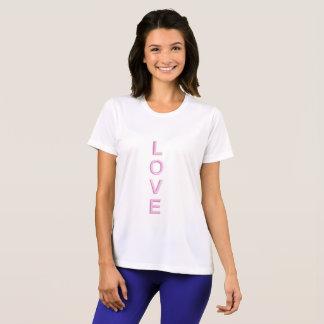愛モダンのピンク Tシャツ