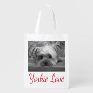 愛ヨークシャテリアの小犬 エコバッグ