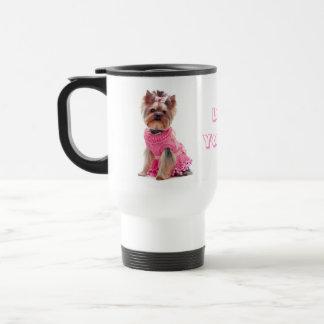 愛ヨークシャーテリアのヨークシャテリアの小犬のタンブラー トラベルマグ
