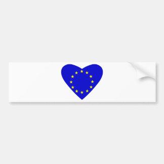 愛ヨーロッパ バンパーステッカー