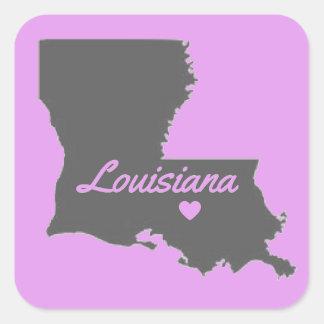 愛ルイジアナ愛バトン・ルージュのステッカー スクエアシール