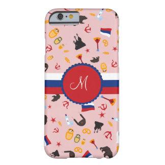 愛ロシア人のモノグラムが付いているロシアから BARELY THERE iPhone 6 ケース