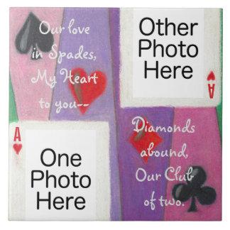 愛ロマンチックなタイルの2枚のカード タイル