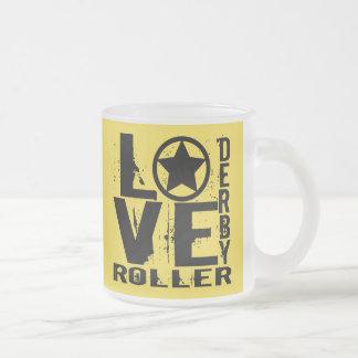 愛ローラーダービー フロストグラスマグカップ