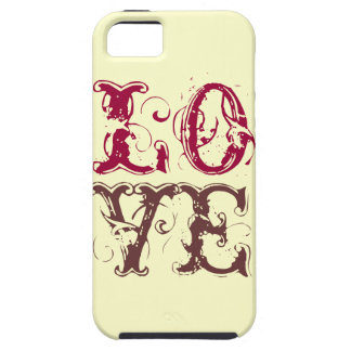 愛ヴィンテージの手紙の素朴でシックでガーリーなグランジ iPhone SE/5/5s ケース