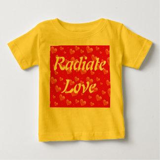 愛乳児のワイシャツを放射して下さい ベビーTシャツ