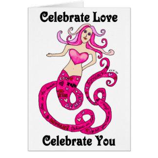 愛人魚のバレンタインのカードを祝って下さい カード