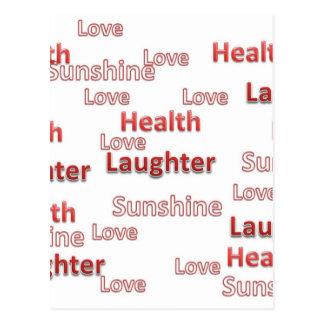 愛健康の笑い声の日光 ポストカード