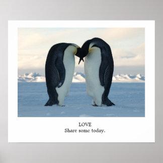 愛共有今日いくつか-コウテイペンギン ポスター