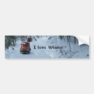 愛冬スノーモービル バンパーステッカー