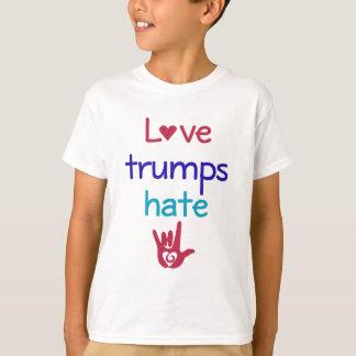 愛切札の憎悪のアンチの切札 Tシャツ
