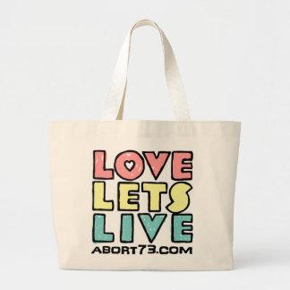 愛割り当てます生きている(代理の)/Abort73.com ラージトートバッグ