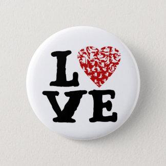 愛動きボタン| Fenkraisのハートの姿 5.7cm 丸型バッジ