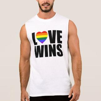 愛勝利! 結婚の平等を祝って下さい! #LOVEWINS 袖なしシャツ