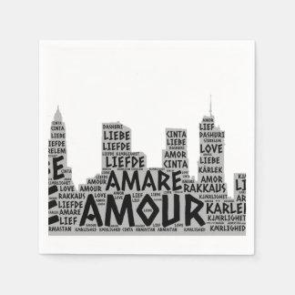 愛単語と図解入りの、写真付きのなブルックリンニューヨーク スタンダードカクテルナプキン