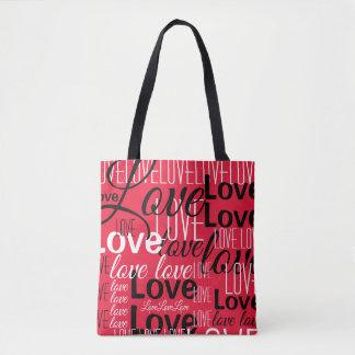愛単語の芸術パターン トートバッグ