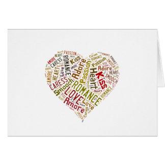愛単語の雲 グリーティングカード
