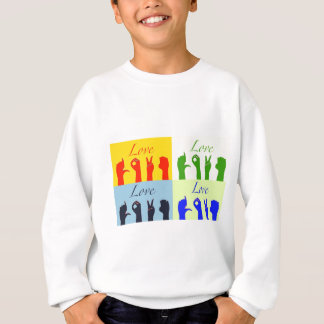 愛印のポップアート スウェットシャツ