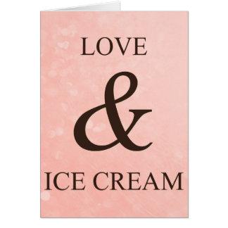愛及びアイスクリーム カード