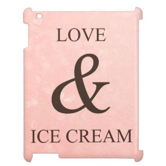 愛及びアイスクリーム iPad カバー