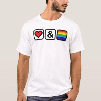 愛及びプライドアイコン Tシャツ