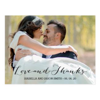 愛及び感謝の原稿|WEDDINGは郵便はがき感謝していしています ポストカード