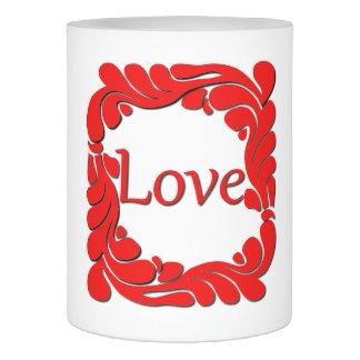 愛及び渦巻いたボーダーFlameless蝋燭 LEDキャンドル