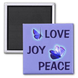 愛喜びの平和紫色の蝶 マグネット