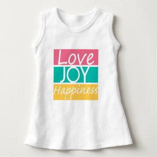 愛喜びの幸福の刺激を受けたなティー ドレス