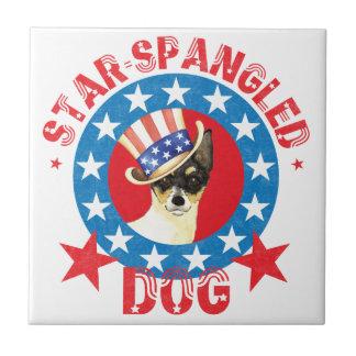 愛国心が強いおもちゃのフォックステリア犬 タイル