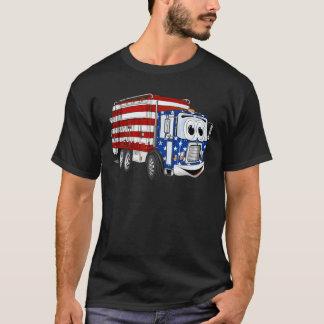 愛国心が強いごみ収集車の漫画 Tシャツ