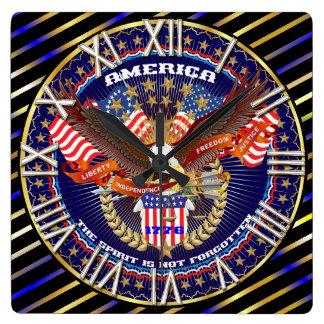 愛国心が強いすべてのスタイルは見ます芸術家のコメントを喜びます スクエア壁時計