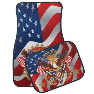 愛国心が強いまたは退役軍人のフルセット(2)の置いて下さい カーマット