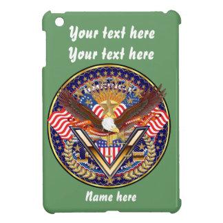 愛国心が強いまたは退役軍人の一突き1の眺めの芸術家のコメント iPad MINIカバー