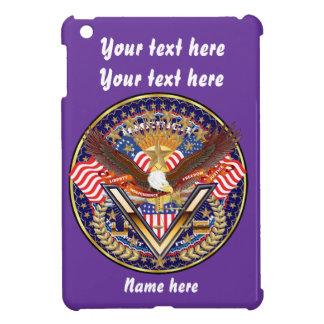 愛国心が強いまたは退役軍人の一突き1の眺めの芸術家のコメント iPad MINIケース