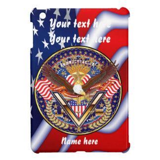 愛国心が強いまたは退役軍人の一突き1の眺めの芸術家のコメント iPad MINI カバー