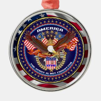愛国心が強いまたは退役軍人の意見の芸術家のコメント メタルオーナメント