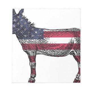愛国心が強いろば ノートパッド